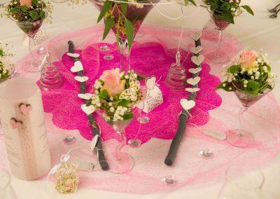 Tischschmuck pink