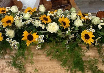 Trauerfloristik Sonnenblumen